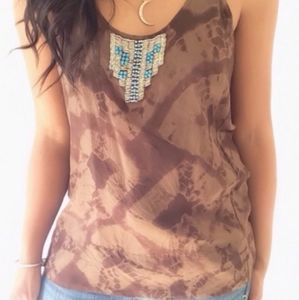 Joe Silk Beaded Top